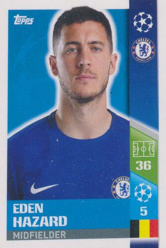Ligue des Champions 17//18 Sticker 133-Eden Hazard Chelsea FC
