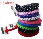 Braided USB Sync Data Charger Cable lead Cord for iPhone 4 4S ipad ipod 2 3