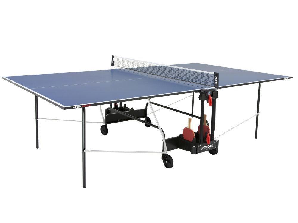 Stiga Tischtennisplatte Winner Indoor Blau mit mit mit Netz Tischtennistisch 687e67