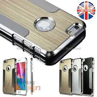 "NEW SLIM METAL ALUMINUM CHROME HARD CASE COVER FOR APPLE IPHONE 6 4.7"" PLUS 5.5"""