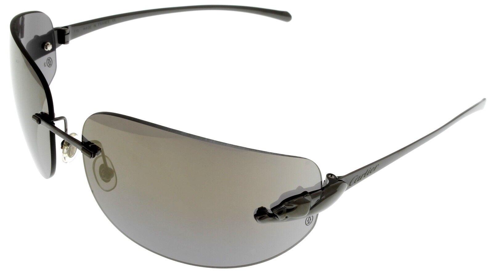 6580185435741 Cartier Sunglasses PANTHERE De Black T8200881 Women Rimless Wrap for ...