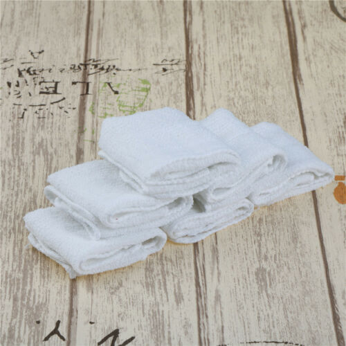 6pcs White Square Cotton Face Hand Car Cloth Towel House Cleaning Nice EP