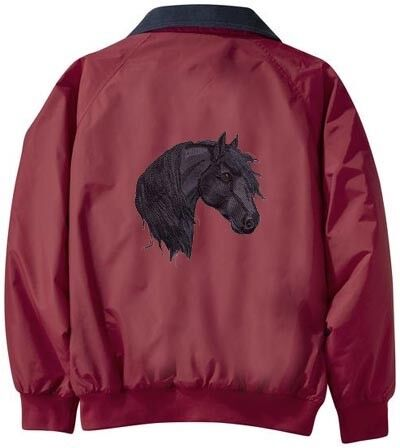 FRIESIAN horse embroidered jacket ANY COLOR B