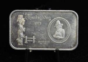 1973-Madison-Mint-Thanksgiving-Pilgrim-1oz-999-Silver-Art-Bar-09DUD