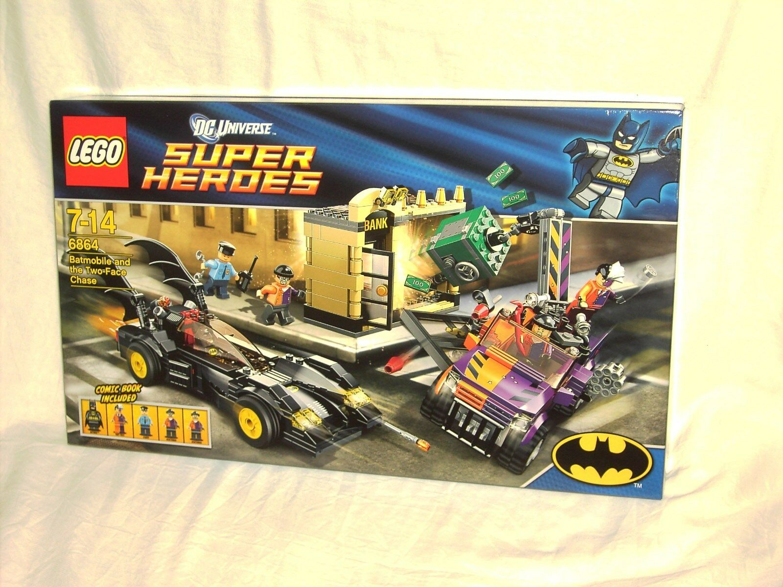 Lego Heroes 6864 Batmobile And Two Face Chase New And Sealed The