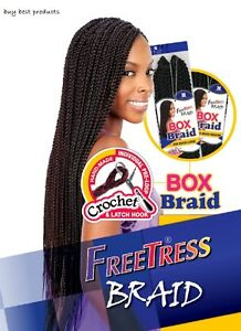 Freetress Synthetic Hair Crochet Braid Large Box Braids Ebay