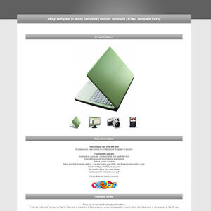 ebay template listing template design template html template gray ebay. Black Bedroom Furniture Sets. Home Design Ideas