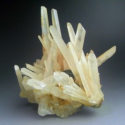 1.2LBS Quartz Crystal Cluster w/ Hematite, China-q1006
