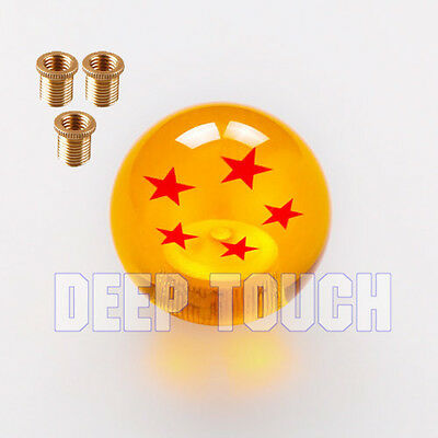 Rare Gear SHIFT KNOB DRAGONBALL Z DRAGON BALL 5 Star 10*1.5 adapters For Mazda