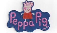 """PEPPA PIG 3"""" GRANDI FERRO SU TOPPA/Patch. SCUOLA BORSA personalizzare indumenti rammendo"""