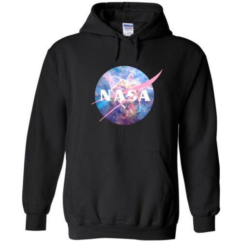 NASA Pastel Nebula Logo Hoodie Sweatshirt Space Shuttle UFO Mars Astronaut Retro