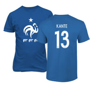 detailing 221f4 58d60 Details about France 2018 Soccer #13 N'Golo KANTE World Cup Men's T-Shirt