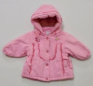 016d02f2be60 NWT Cakewalk Ruffled Hooded Solid Pink Snap Front Jacket Coat