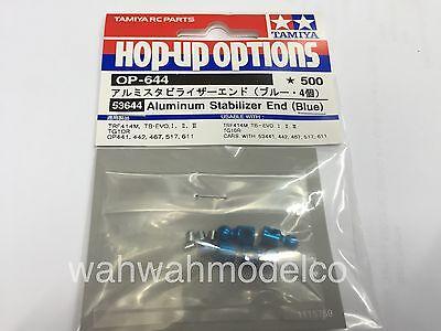 Blue//4pcs Tamiya 53644 RC Aluminum Stabilizer Ends