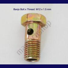 Tier1 Motorsports Banjo Bolt w//Crush Washers M10x1.0 24mm Metric Brake Steel Adapter Fitting