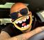 縮圖 1 - Mundschutz Maske lustiges Motiv Smiley Lachen Grinsen Lächeln gelb