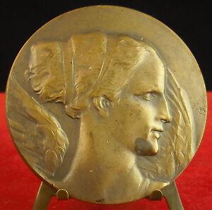 Médaille Belge Vers 1944 Proifil De Déesse D'archange Pharmacie Farmacy Medal
