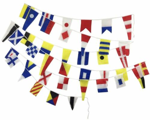 String of 40 flags Bunting Beach Party MARINE NAVY Signal Code FLAG 2 Feet