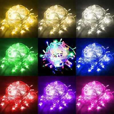 32/50ft 100/200 LED Christmas Tree Fairy String Party Lights Xmas Waterproof