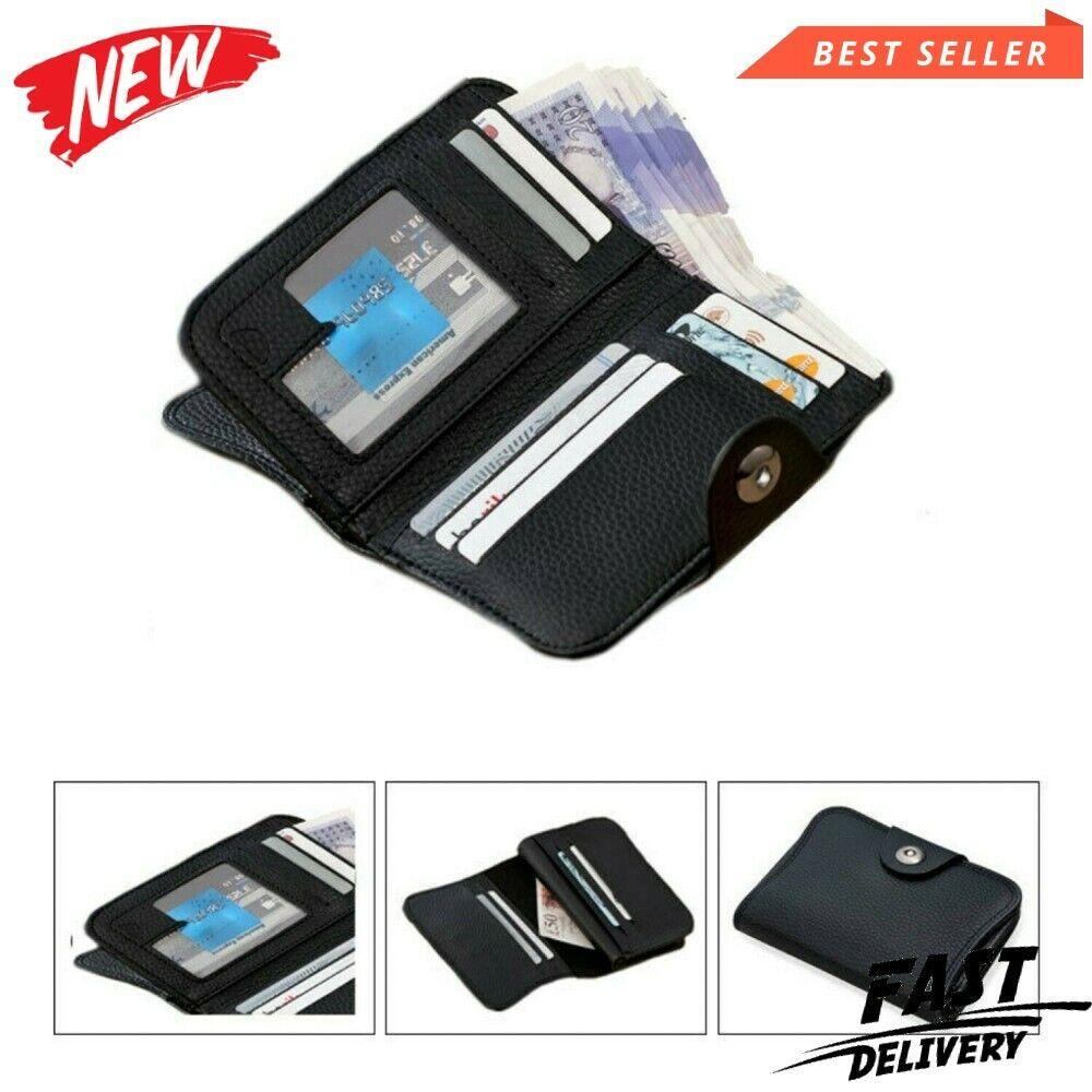 ! nuevo! para Hombre de Cuero Delgada Fina titular de la tarjeta de crédito Mini Billetera Estuche (titular de la tarjeta)