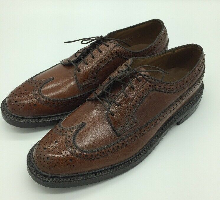 Florsheim Royal Imperial  Marronee Texturosso Wingtips V cleat Dimensione USA 8 D New