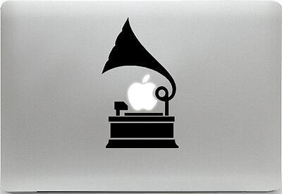Apple MacBook Air Pro + GRAMMOPHON + Aufkleber Sticker Skin Decal + Musik