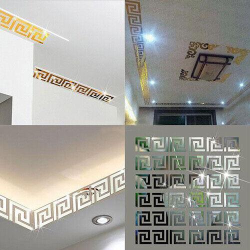 10Pcs 3D Mirror Decal Wall Sticker DIY Removable Art Mural Home Room Decor Fine