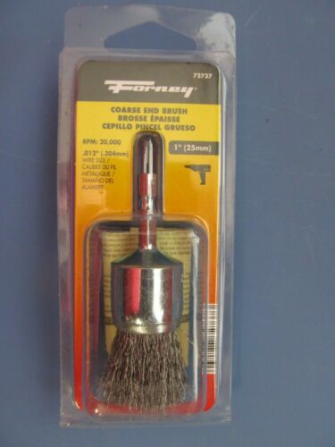 """Coarse Crimped with 1//4-Inch Hex Shank Forney 72737 Wire End Brush 1/""""  NEW"""