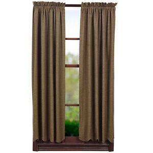 Details About Tea Cabin Short Panel Set Moss Sage Green Tan Navy Primitive Curtains 63 Plaid