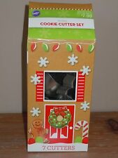 WILTON NEW HOLIDAY CHRISTMAS SET 7 COOKIE CUTTERS SNOWFLAKE CANE GINGERBREAD MAN