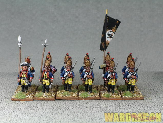 28mm Seven Years War WDS painted Purssia Infantry Regiment  Nr 02 cc59  fabbrica diretta