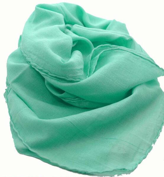 2019 Ultimo Disegno Asciugamano Sciarpa Cotone Cotone Tinta Unita Turchese Chiaro Ca 95 X 95 Cm Buono Per L'Energia E La Milza