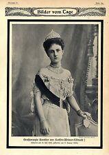 Zum Tode der Großherzogin Karoline von Sachsen- Weimar- Eisenach Memorabilie1905