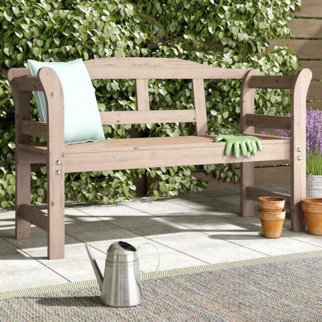 Marvelous Rustic Garden Wooden Bench 3 Seater Patio Outdoor Furniture Park Wood Seat Fence Uwap Interior Chair Design Uwaporg