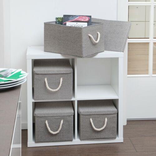 Aufbewahrungsbox mit Deckel aus Stoff// 2er-Set Ordnungsboxen Stoffbox 40x30x25