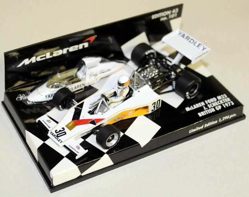 MINICHAMPS 1/43 1/43 1/43 Scale 530 734330 McLAREN FORD M23 BRITISH GP 1973 J. Scheckter | La Qualité  8552e8