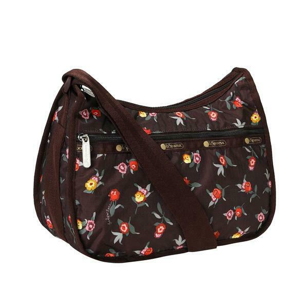 Lesportsac Classic Collection Hobo Crossbody Bag In Zinnia Fields Nwt