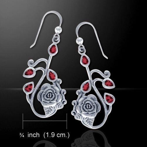 Spring Flower Elegance Gem stone Sterling Silver Earrings by Peter Stone Jewelry
