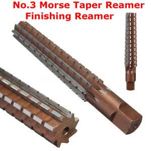 MT3-No-3-Morse-Taper-Reamer-Finishing-Reamer-Alloy-Steel-Lathe-Milling-Tool