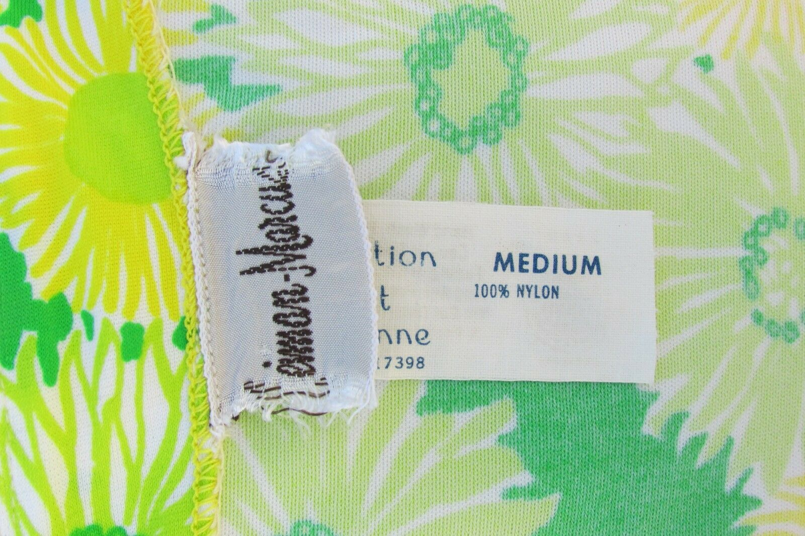 GREEN NEON VTG 70's Swimwear Cover Up-Perfection … - image 10