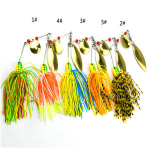 Fishing-Hard-Spinner-Lure-Spinnerbait-Pike-Bass-16-3g-0-57oz-DD
