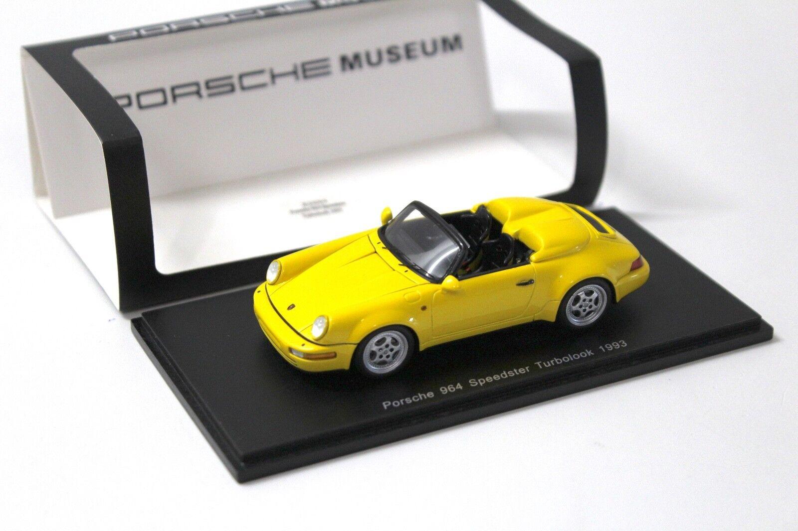 1 43 Spark Porsche 964 Speedster Turbolook 1993 jaune chez Premium-modelcars