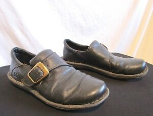 a1e5959c54e Born Black Leather Monk Strap Loafers Comfort Shoes Womens Sz 9.5 M ...