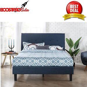 Upholstered Bed Frame Platform Queen King Size Headboard