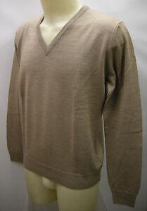 Sweater T a61042 100m Ragno Col V Maglia xxl 54 Cammello Art Uomo Scollo Man wf7Stq