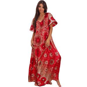 2c6e1cbfb5f54 Details about Women's dress long ethnic Ibiza suit skirt wide boho gipsy  light sexy PW-24