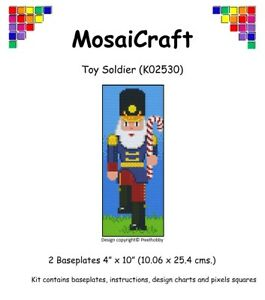 MosaiCraft-Pixel-Craft-Mosaic-Art-Kit-039-Toy-Soldier-039-Pixelhobby