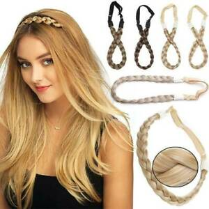 Ladies-Girls-Braided-Synthetic-Hair-Plaited-Plait-Elastic-Headband-Hairband