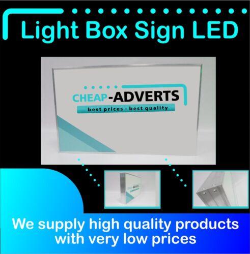 Single sided LED Light Box Custom Shop Sign ALL SIZES