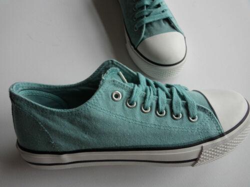 NEU  Sneaker Classic  Schnürer türkis  im used  Look Größe   36-41